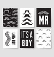 set of templates for boys birthday cards hand vector image vector image