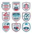 set vote labels and badges for elections vector image