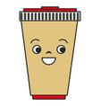 soda cup kawaii character vector image