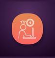 work rush app icon vector image vector image