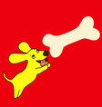 bright little yellow dog a symbol of the new vector image