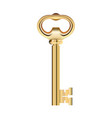 golden key isolated on white background vector image