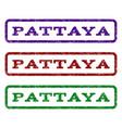 pattaya watermark stamp vector image