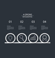 4 steps infographic design template circle style vector image vector image