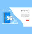 5g network wireless technology web banner vector image