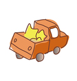 A truck is running vector image vector image