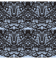 Abstract black lace blue moire pattern vector image vector image