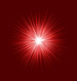 abstract red blast design on dark background vector image vector image