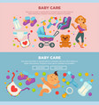 baby care and happy motherhood poster of mother vector image vector image