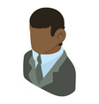 banker african american icon isometric 3d style vector image vector image
