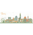 bari italy city skyline with color buildings vector image vector image