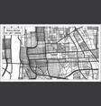 baton rouge louisiana usa city map in retro style vector image