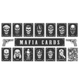 cards for the mafia game vector image