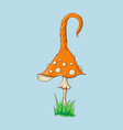 cartoon amanita muscaria fly agaric mushroom icon vector image