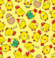 chicken seamless pattern vector image