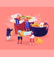 chinese food concept male and female characters vector image vector image