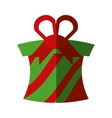 christmas gift isolated icon vector image vector image