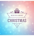 Christmas greeting card lights and snowflakes vector image vector image