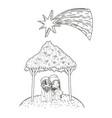 christmas nativity scene cartoon vector image vector image