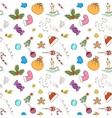 Christmas pattern background Seamless vector image vector image