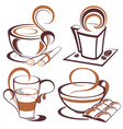 coffee design elements vector image