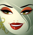 Cosmetology theme image Young pretty lady with