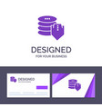creative business card and logo template shield vector image