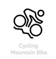 cycling mountain bike sport icons vector image vector image