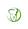dental clinic logo unique modern effect clean icon vector image vector image