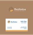 doughnut logo design with business card template vector image