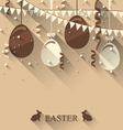 Easter background with chocolate eggs serpentine vector image vector image