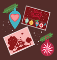 Elements for Christmas greetings vector image vector image