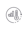 energy saving system line icon concept energy vector image vector image