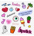 Fashion patch badges Pop art set Stickers pins vector image