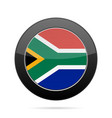 flag of south africa shiny black round button vector image