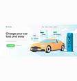 flat modern design electric car charging vector image