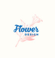 flower design abstract sign symbol or logo vector image