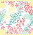 flowers silhouettes and fluid shapes seamless vector image