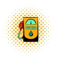 Gas station icon comics style vector image vector image