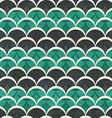 green half circle seamless pattern vector image