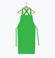 green kitchen apron chef uniform for cooking vector image vector image