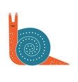happy snail icon in flat design vector image vector image