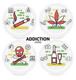harmful addictions concept vector image vector image