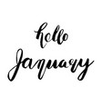 hello january lettering vector image vector image