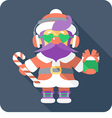 hipster Santa Claus standing with gifts vector image