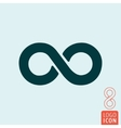 Infinity icon isolated vector image vector image