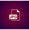 Jpg icon file vector image vector image