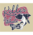 Killer whale badge vector image vector image