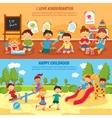 Kindergarten banner set vector image vector image