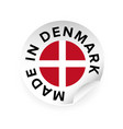 made in denmark sticker tag vector image vector image